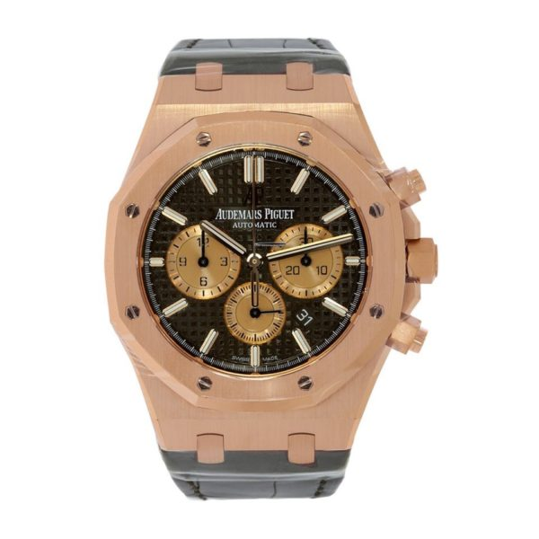 Audemars Piguet Royal Oak Chronograph Rose Gold Brown Dial - 41mm-replica