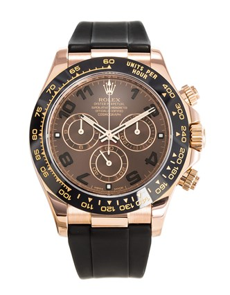 Rolex Daytona 116515ln Rose Gold Chocolate Oysterflex 40mm - Replica