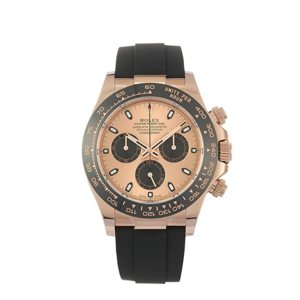 Rolex Daytona 18K Rose Gold Ceramic Oysterflex Watch 116515LN 40mm - Replica