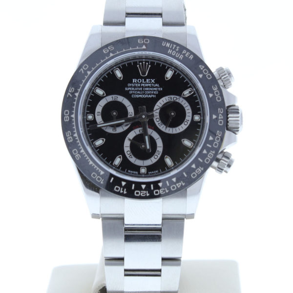 Rolex Daytona Ceramic Bezel Stainless Steel Black Dial 116500LN 40mm - Replica