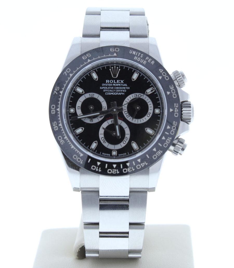 Rolex Daytona Ceramic Bezel Stainless Steel Black Dial 116500LN 40mm - Replica