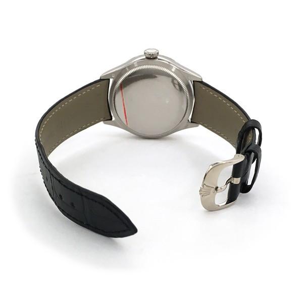 Rolex Cellini Date 39mm 50519 Silver Black Strap - Fake