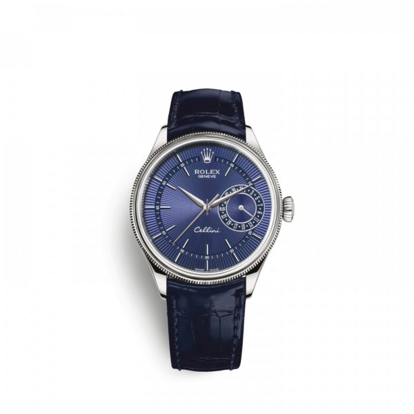 Rolex Cellini Date 39mm 50519 Blue Blue Strap - Replica