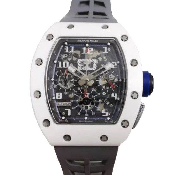 Richard Mille RM011 White Ceramic Chronograph Flyback Chronograph-replica
