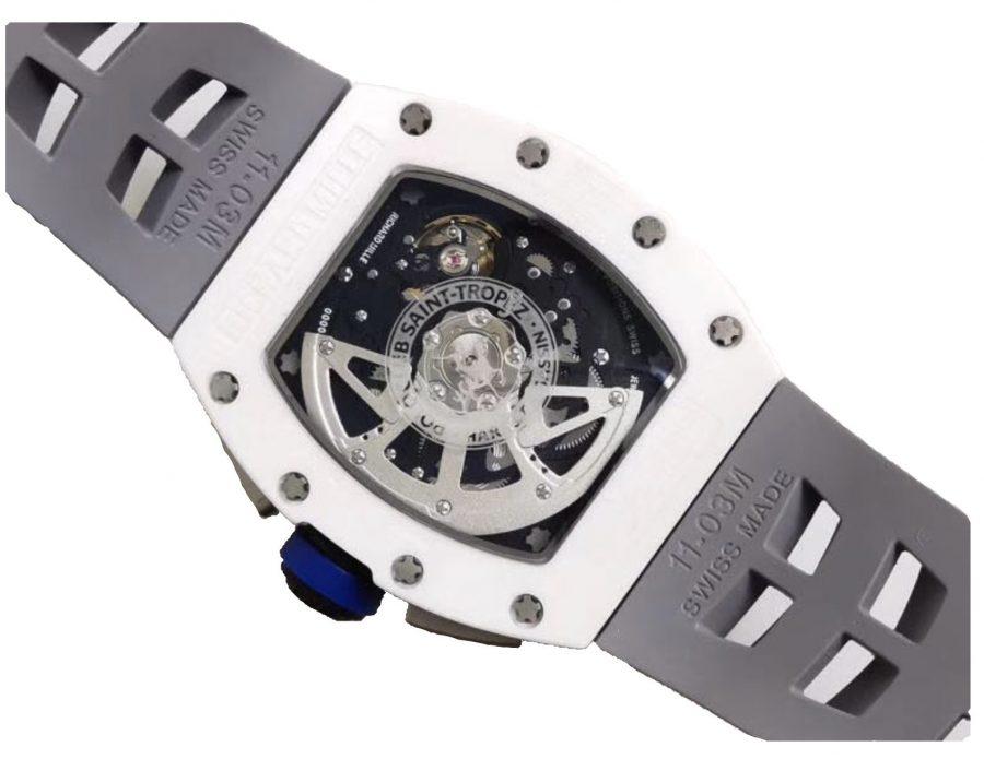 Richard Mille RM011 White Ceramic Chronograph Flyback Chronograph-fake