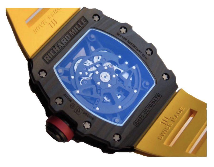 Richard Mille RM035-02 RAFAEL NADAL Forge Carbon Titanium Case-mirror