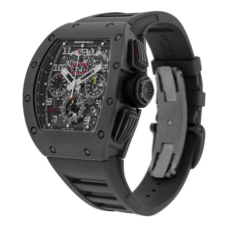 Richard Mille RM011 Felipe Massa Titanium Flyback Chronograph Watch-fake