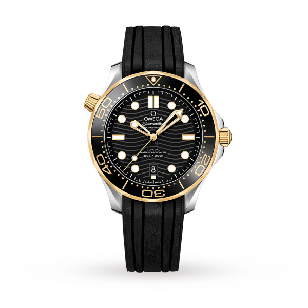 Omega Seamaster Diver 300m Co-axial Master Chronometer Black Gold 42mm-replica