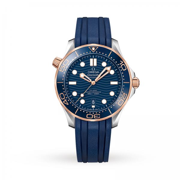 Omega Seamaster Diver 300m Co-axial Master Chronometer Blue 42mm-replica