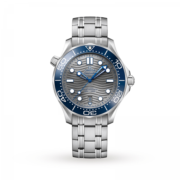 Omega Seamaster Diver 300m Co-axial Master Chronometer Blue Grey 42mm-replica