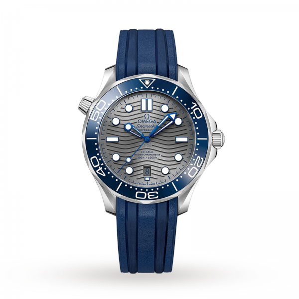 Omega Seamaster Diver 300m Co-axial Master Chronometer Grey Dial 42mm-replica