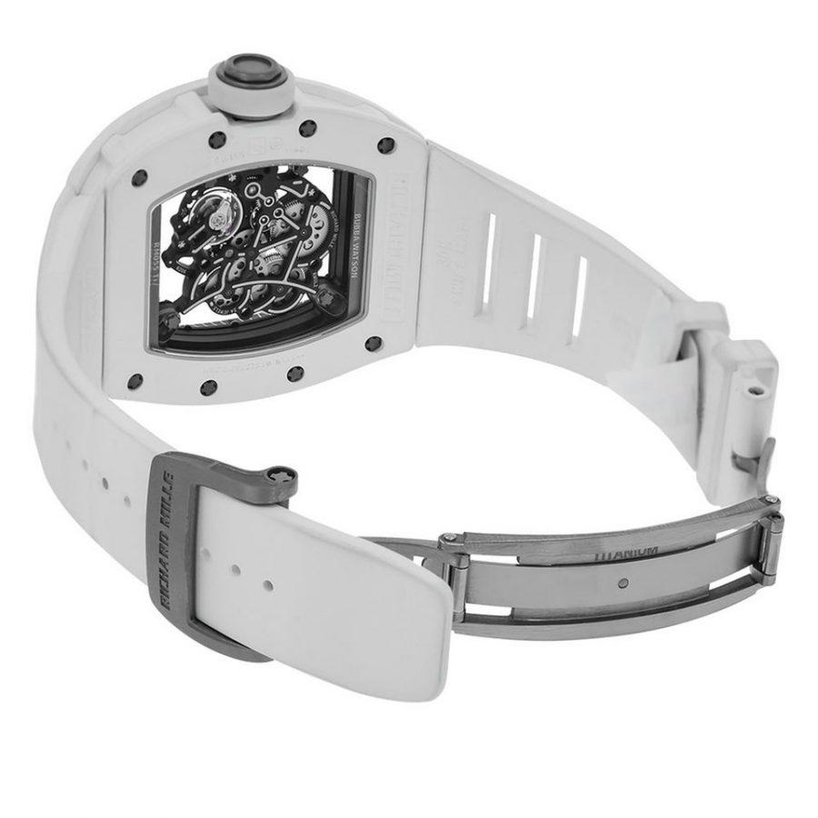 Richard Mille RM055 Bubba Watson White Ceramic Watch-copy