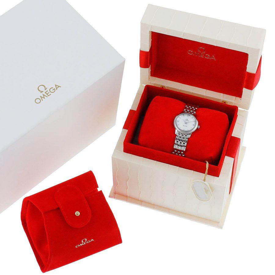Omega De Ville Prestige Quartz Ladies Watch Silver 24.4mm-replica