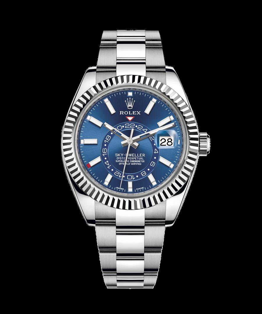 Rolex Sky-Dweller 42mm Blue Dial Stainless Steel 326934-replica