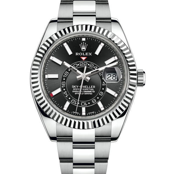 Rolex Sky-Dweller 42mm Black Dial Stainless Steel 326934-replica
