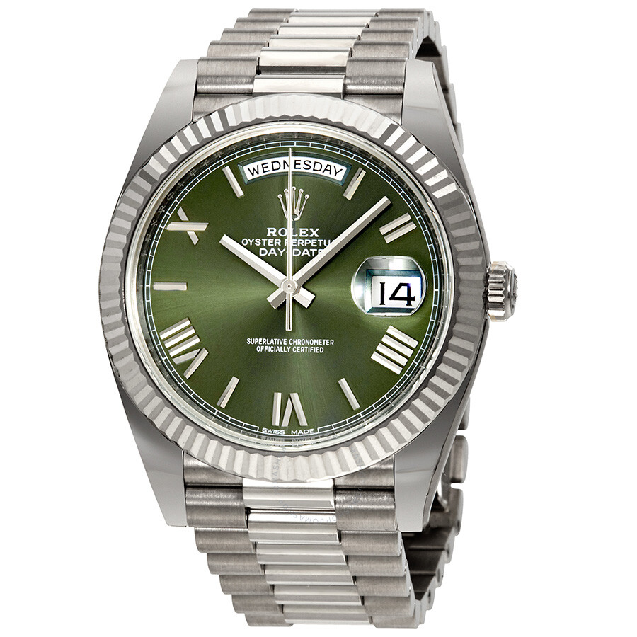 Rolex Day-Date Automatic White Gold President 228239-copy