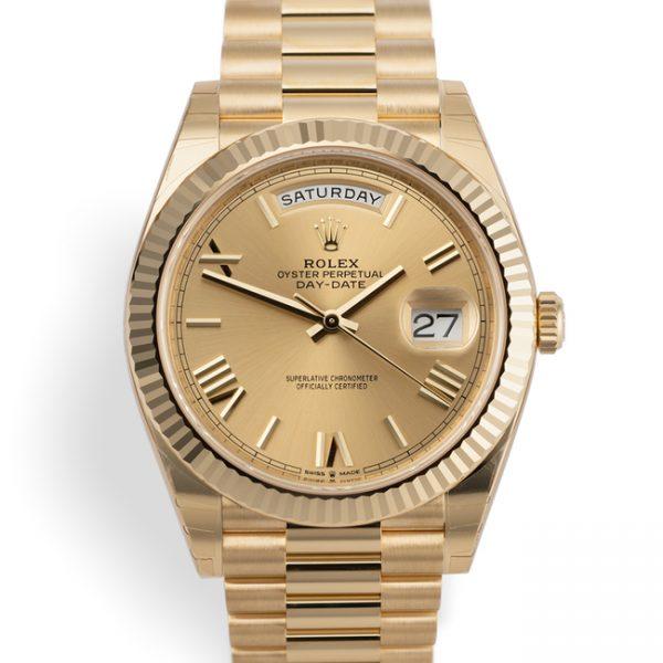Rolex Day-Date 40 Champagne Colour Dial 228238-replica