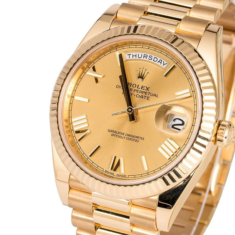 Rolex Day-Date 40 Champagne Colour Dial 228238-fake