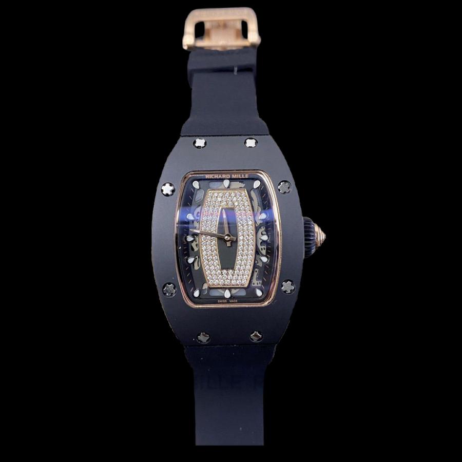 Richard Mille RM037 Replica Lady Watch Black-fake