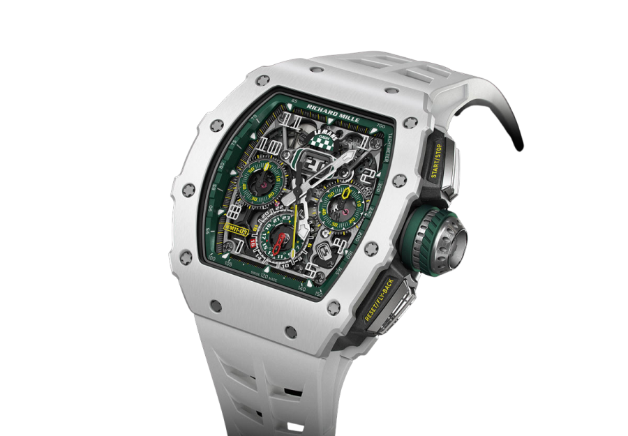 Richard Mille RM11-03 Replica Automatic Flyback White Ceramic Chronograph-fake