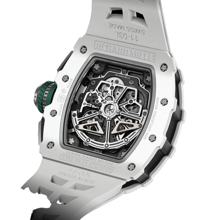 Richard Mille RM11-03 Replica Automatic Flyback White Ceramic Chronograph-copy