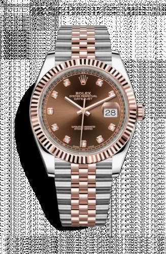 Rolex Datejust 41 Everose Gold & Chocolate Dial-replica