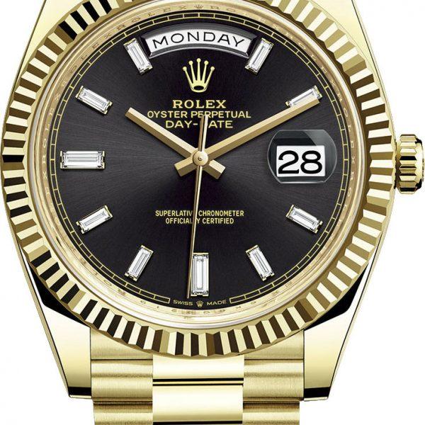 Rolex Day-Date 40mm Yellow Gold Mens Watch-replica