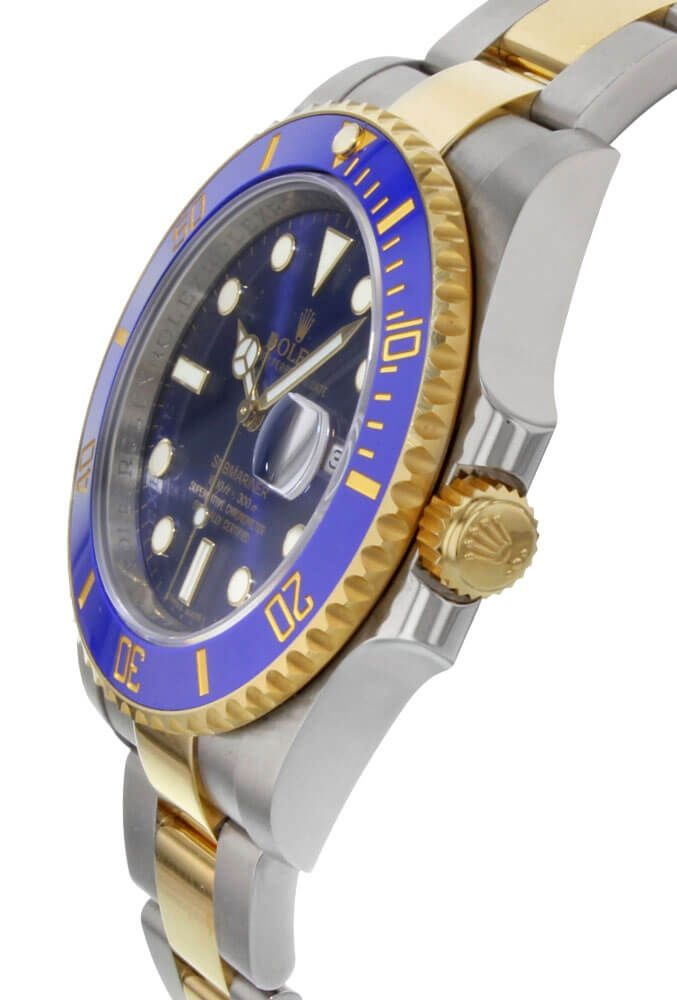 rolex Submariner Date Two Tone Blue Dial Men's Watch 116613LB-0005-fake