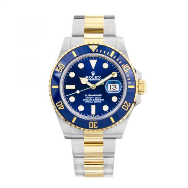 rolex Submariner Date Two Tone Blue Dial Men's Watch 116613LB-0005-replica